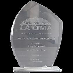 Best Performance Partner 2017 - Siemens